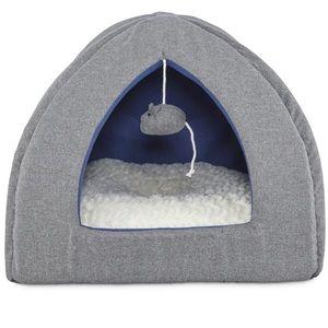Harmony cat hooded bed gray igloo